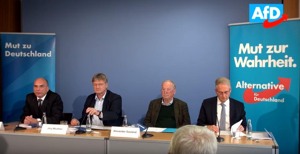 Pressekonferenz Afd